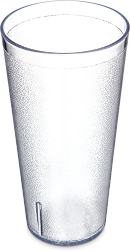 Carlisle 5232-8107 BPA Free Plastic Stackable Tumbler, 32 oz., Clear (Pack of 3)