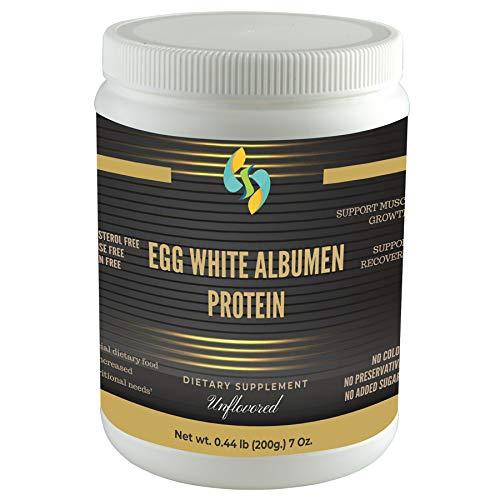 SHARRETS Egg White (Albumen) Muscle Protein Powder - Unflavored - 7 Oz [Dietary Food Supplement] Non-Gmo & Gluten-Free