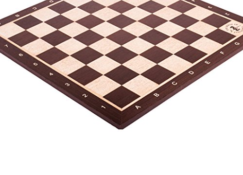 The House of Staunton African Palisander & Maple Wooden Chess Board - 2.0