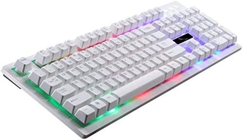 Tjtz Illuminated Gaming Keyboard Wired Laptop USB Mechanical Feel Keyboard Professional Gaming Keyboard