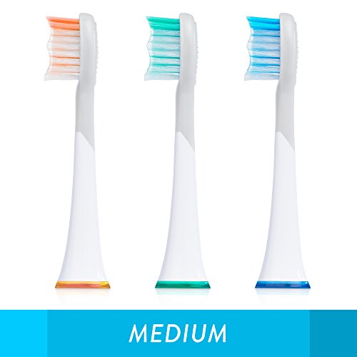 GreaterGoods Sonic Electric Replacement Heads, 3 Count for S/E Toothbrush (Best Budget Electric Toothbrush 2019)