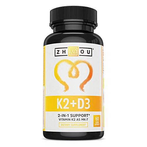 Vitamin K2 (MK7) with D3 Supplement - Vitamin D & K Complex - Bone and Heart Health Formula - 5000 IU Vitamin D3 & 90 mcg Vitamin K2 MK-7-60 Small & Easy to Swallow Vegetable Capsules