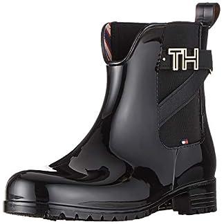 Tommy Hilfiger Damen TH Hardware Rubber Bootie Stiefeletten, Schwarz (Black 990), 40 EU 2