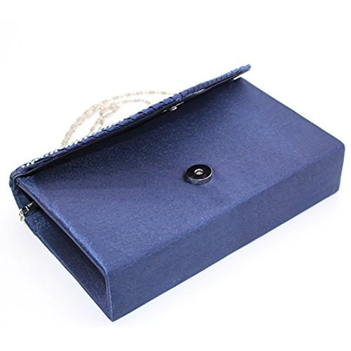 Envelope Elegant Clutch Bags Luxury Rhinestone for Bag Shoulder Women Cocktail Wedding Black Party Satin Evening YC0q1w