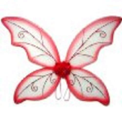 Costume Fairy Wings - Large (34in) Pixie Princess Dress Up Wings by Cutie Collection (Glitter Fairy Wings)
