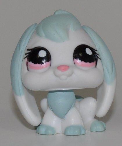 Rabbit #1144 (Blue, Pink Eyes) - Littlest Pet