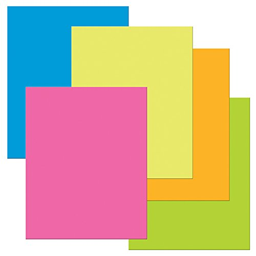"""Pacon PAC53051 Heavy Poster Board, 22"""" x 28"""", Neon Colors, 25 Sheets"""