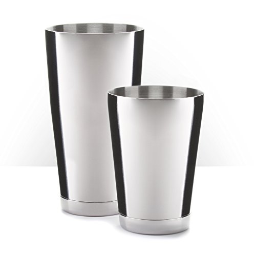 Piña Barware Stainless Steel Commercial Bar Boston Shaker Tin Set - 28oz. & 18oz.