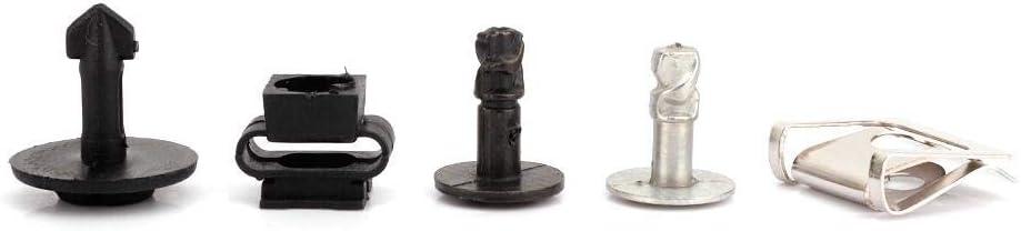 Car Hole Plug Assortment 60Pcs Car Engine Protection Pan Clips Nut Pin Hardware Kit