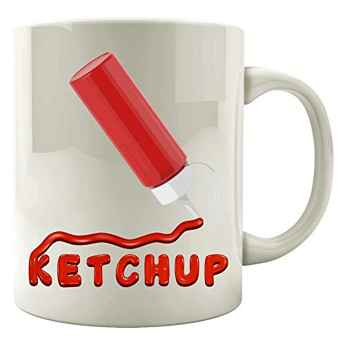 Ketchup Condiment Easy halloween Costume Part of a Set - Mug]()