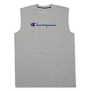 Champion Men's Big and Tall Sleeveless Crewneck Athletic Sports Tank Top Shirt Heather Grey 3X