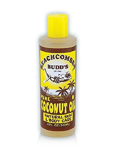 Value Pack Hawaiian Beachcomber Budd Pure Coconut Oil 8 oz. Scented 4 Bottles by Beachcomber Budd's