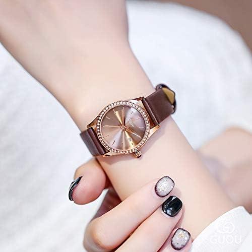 ZHANGZZ-GUOU OROLOGIO Impermeabile al quarzo del calendario della vigilanza di signore intarsiate di diamanti guardano temperamento squisito orologi 1