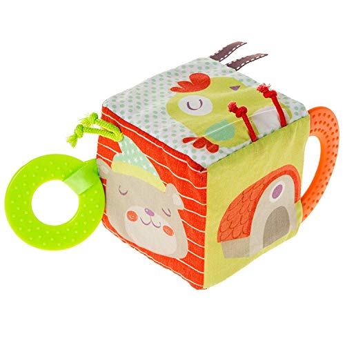 Beautiful Valley Toddler Soft Activity Cube Toys, Baby Early Development Toys