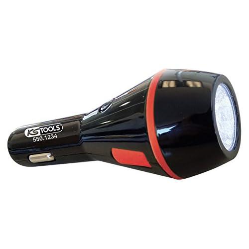 Ks Tools 550 1234 Lampe De Poche Led Rechargeable Avec Double Prise