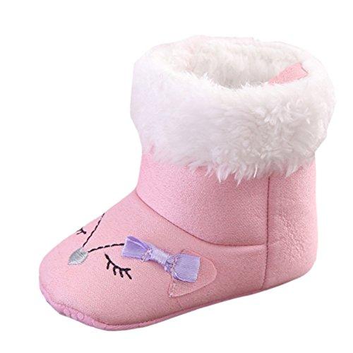 Leap Frog  Mid Culf Snow Boots, Baby Mädchen Krabbelschuhe & Puschen, rosa - rose - Größe: 0-6 Monate
