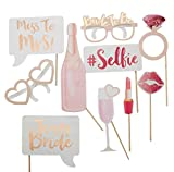 Party Birds Bachelorette Bridal Shower Photo Booth Props (10 Fully Assembled Props)
