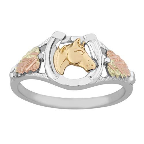 Black Hills Gold Horse Shoe Ring in Sterling ()