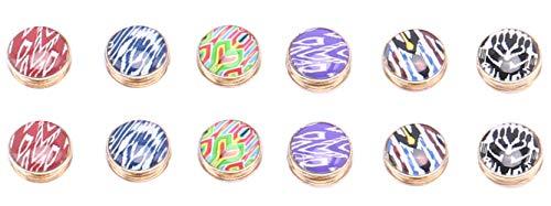 - Ababalaya Multi-Use Rhinestone Magnetic Scarf Brooch Round Hijab Pin Pack of 12 (8Multicoloured)
