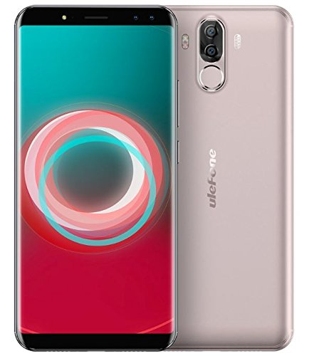 TALLA 4GB RAM. Ulefone Power 3s - 6.0 Pulgadas FHD (relación 18: 9) Corning Gorilla Glass 4 Android Smartphone, Octa Core 2.0GHz 4GB + 64GB, Reconocimiento Facial, Cámaras cuádruples Batería 6350mAh - Oro