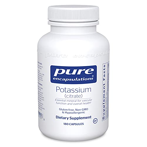 Pure Encapsulations Potassium (Citrate) | Essential Electrolyte Supplement to Support Nerve and Muscle Function…