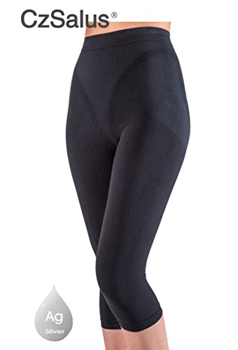 Limited Special Offer of Anti cellulite slimming capri pants + silver - Black size (Best Sealy Anti Cellulite Treatments)