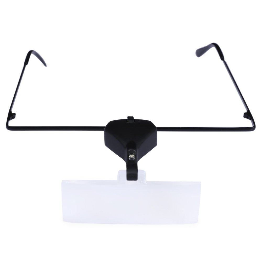 1.5X 2.5X 3.5X Supporting Glasses LED Lamp Magnifier with Screwdriver