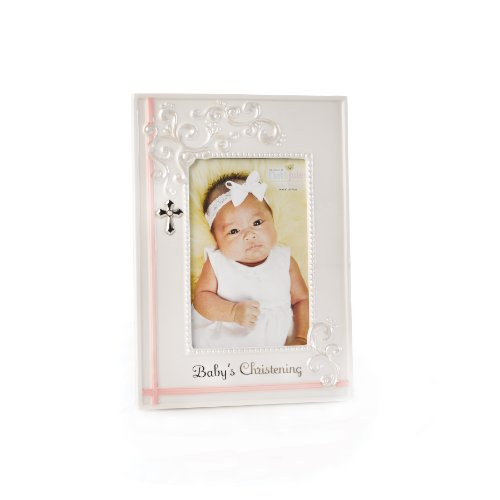 Nat and Jules Baby's Christening Frame, Pink by Nat and Jules