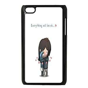 DIY Everything Will Be OK Ipod Touch 4 Phone Case, Everything Will Be OK Customized Hard Back Case for iPod Touch4 at Lzzcase