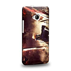 Case88 Premium Designs Fate Stay Night Saber Carcasa/Funda dura para el HTC One M7