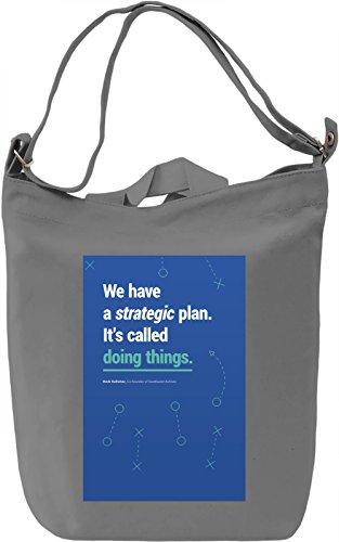 Strategic plan Borsa Giornaliera Canvas Canvas Day Bag| 100% Premium Cotton Canvas| DTG Printing|