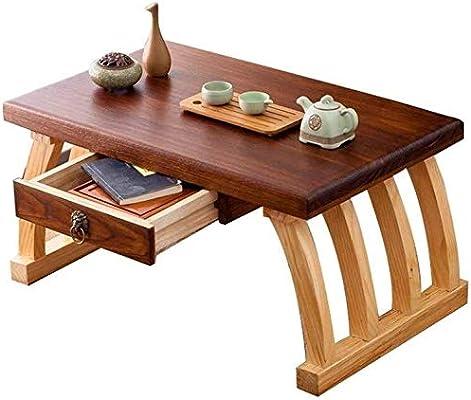 JIAHE115 Mesa portátil pequeño café Muebles de Dormitorio de ...