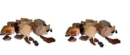 Oklahoma Joe's Wood Smoker Chunks, 8 lb, Hickory (2-Pack)