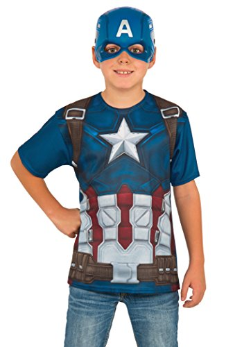 Falcon Costume Captain America (Rubie's Costume Captain America: Civil War Child Top and Mask,)