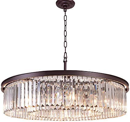 Meelighting Oil Rubbed Bronze Crystal Chandeliers Modern Contemporary Ceiling Lights Fixtures Pendant Lighting