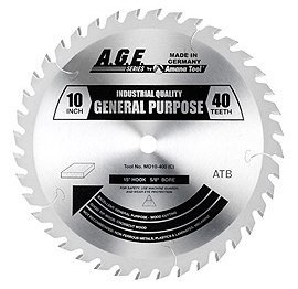 AGE MD10-400C General 10X40t ATB 5/8 Bore by AGE