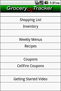 amazon com grocery tracker shopping list appstore for android