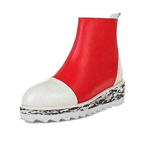 Stivaletti Tacchi A Spillo Da Donna Open-toe Con I Colori Assortiti Rosso-bianco