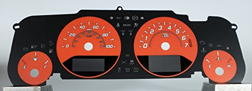US Speedo Daytona Edition Jeep Wrangler JK Gauge Face Orange for 2015-2018