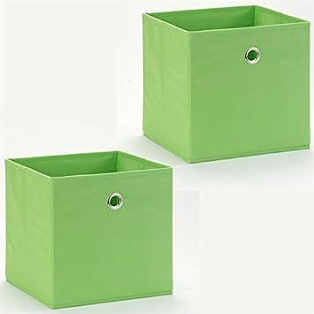 Faltbox ELA 2er-Pack -Farbauswahl-, Farbe:grün: Amazon.de: Küche ...