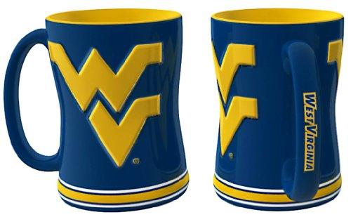 West Virginia Mountaineers Ceramic - Boelter Brands West Virginia Mountaineers Coffee Mug - 14oz Sculpted Relief