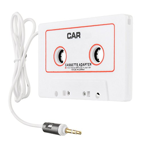 ape Adapter, Leagway 3.5mm Car Audio Cassette Tape Adapter Cassette Music Player Converter AUX Cable For iPhone iPod Android Smartphones MP3/MP4 CD Player or Walkman (White) (Auto Adjust Smart Converter)