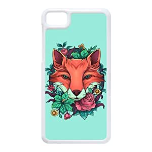 Generic Cell Phone Case For Black Berry Z10 case Diy Customized Cartoon Cute Brown Fox Design Hard Plastic Protective Shell Personalized Skin