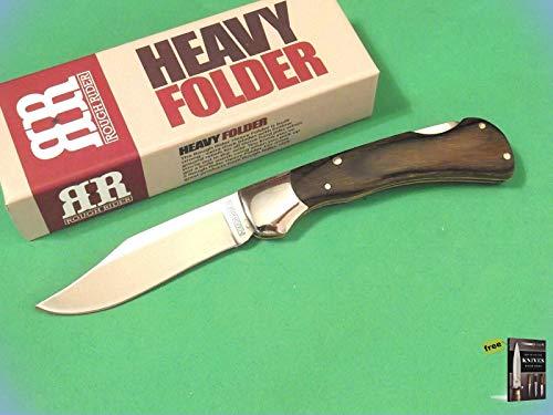 - Folding Pocket Knife ROUGH RIDER RR1354 HEAVY FOLDER Brown wood lockback Hunting Tactical Knife 3 3/8