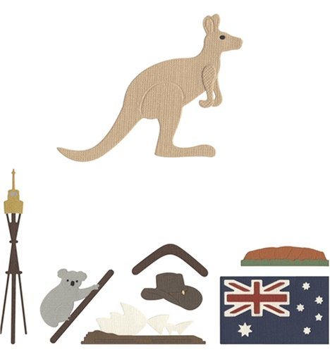 QUICKUTZ We R Memory Keepers QKDS-CC-06 Die Shape Sets, Australia Collection