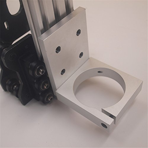 HEASEN Aluminum Alloy 2.8inch CNC Router Spindle Mount 2060 v-Slot for COLT Palm Router 71MM on OX CNC Router Parts free shipping