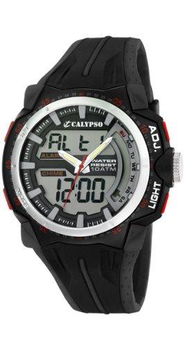 Calypso K5539/1 - Reloj de caballero de cuarzo, correa de plástico color varios