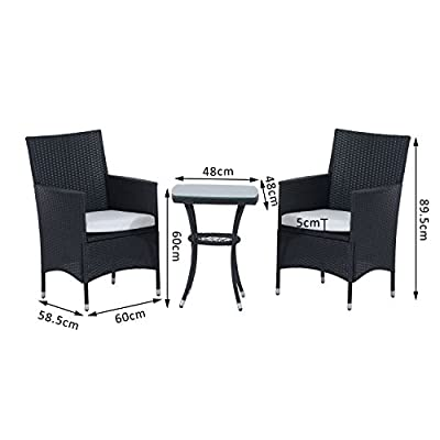 Outsunny-Garden-Outdoor-Rattan-Furniture-Bistro-Set-3-PCs-Patio-Weave-Companion-Chair-Table-Set-Conservatory-Black