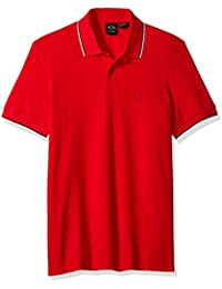 A|X Armani Exchange Men's Core Ss Polo with Contrast Tipping
