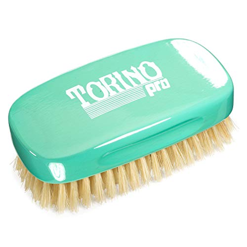 Torino Pro Soft 7 Row Palm Wave Brush By Brush King - #1870 - Soft Palm great for laying down your waves without disturbing your pattern - Great for Connections and polishing - For 360 Waves